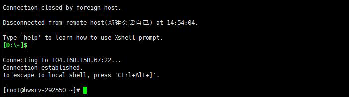 HostGator Linux VPS连接成功