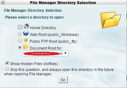 选择document root for 和show hidden files