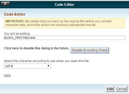 选择edit